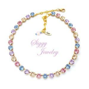 Swarovski® Crystal Necklace, 8mm Spring Bling